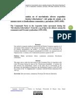 """Ezequiel Murmis - El Partido Comunista en el movimiento obrero argentino  durante la """"Revolución Libertadora"""""""