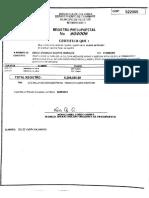 Registro presupuestal escaneado