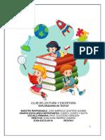 Proyecto de Club Lectura y Escritura