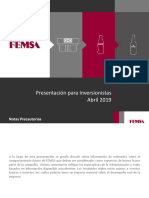 FEMSA Overview (Abril 2019)