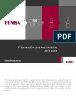 FEMSA Overview (Abril 2019)