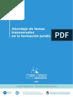 Abordajes de Temas transversales en la formación jurídica