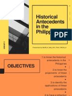Historical Antecedents in the Philippines Converted