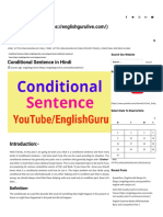 Conditional Sentence in Hindi - YouTube_EnglishGuru.pdf