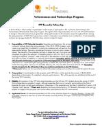 CPP Ensemble Fellowship Application Form 2019-2020