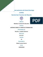 Informe Sobre El Curriculo Dominicano