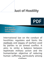 Conduct of Hostility