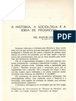 SOARES, Manuel Lima. a História, A Sociologia e a Ideia de Progresso. Revista Da Faculdade de Direito, Universidade Federal Do Ceará, Fortaleza, V.15, 2ª Fase, 1961, p.228-237.