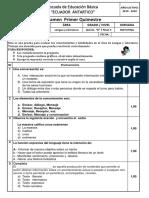Examen Del 1er Quimestre 5to..