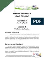 G7 English Lesson Exemplar 3rd Quarter