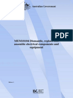 MEM18104 Dismantle, Replace and Assemble Electrical Components and Equipment