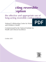 Long acting reversible contraception