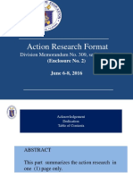 Action Research Format 1