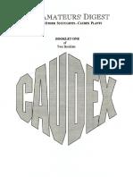 CAUDEX Booklet 1 of 2, The Amateurs' Digest (March 1994)