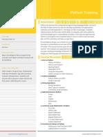 Python Training Brochure Mar 19