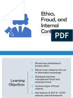 Ethics, Fraud and Internal Control