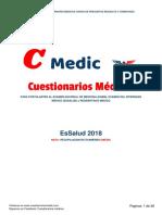 Cuestionarios medicos