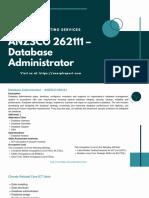 ANZSCO 262111 – Database Administrator
