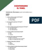 Cuestionario El Túnel