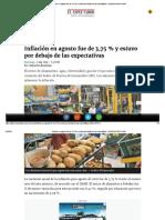 Inflación en Agosto Fue de 3,75% - ELESPECTADOR.com