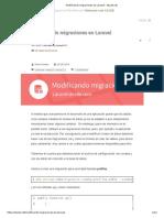 Modificando Migraciones en Laravel – Styde.net
