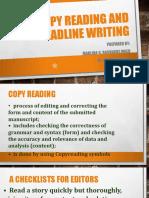 Copy Reading and Headline Writing