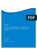Review of polyphosphates as additives and testing methods for them in scallops and prawns
