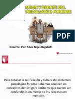 15. Ratificacion y Debate - Dictamen Psic. Forense