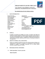 SYLLABUS Administracion de Operaciones I