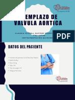 reemplazo de valvula aortica- caso clinico