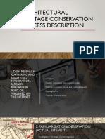 Architectural Heritage Conservation Process Description