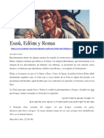 Esaú Edom y Roma
