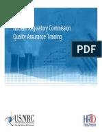 NRC QA Training