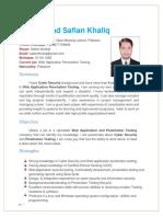 Safian Khaliq-(Resume)