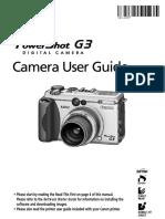 Manual Canon PowerShot G3 English