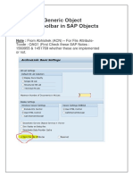 Activating Generic Object Services (GOS) Toolbar in SAP Objects
