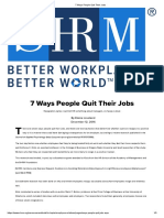 7 Ways People Quit Their Jobs