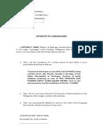 Aff of Landholding
