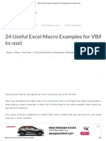 24 Useful Excel Macro Examples for VBA Beginners (Ready-To-use)