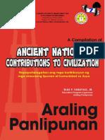 contribution of ancient civilization