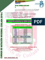 Cursos de Natación en El Cerro 2019/20 - Orden de atención inscripciones