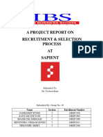 Recruitment and selection Process of Sapient India.- IBS Gurgaon