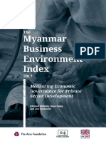 The Myanmar Business Environment Index 2019 2019 May Update