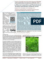 Nutritive Evaluation, Mineral Composition and Phytochemical Analysis of Leaf Protein Concentrates of Daucus carota