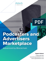 Podcasters and Advertisers Marketplace on Blockchain Cygnet Infotech