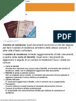 Cambio di residenza, documenti necessari - Lifestyle  Agenzia di Stampa Italpre.pdf