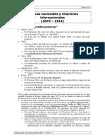 Políticas Nacionales y Relaciones Internacionales (1870-1914)
