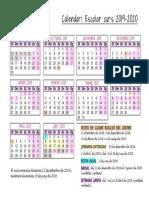 Calendari 2019-2020. Escola Elisa Badia
