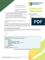 SCU Quick Guide. Writing_reports