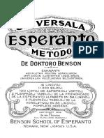 Benson Universala Esperanto Metodo